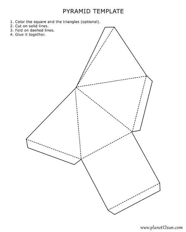 printable 3D pyramid template